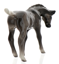 Hagen-Renaker Miniature Ceramic Horse Figurine Silver Black Morgan Colt image 3