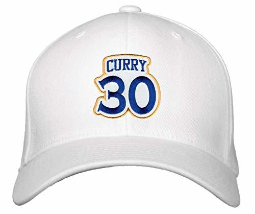 Stephen Curry No. 30 Hat - Adjustable Unisex White Basketball Cap