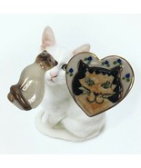 Vintage Brooch Pin Lot of 2 Cats Kitty Ceramic Porcelain Avon Crazy Cat ... - $16.82