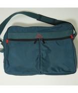 VINTAGE JORDACHE CARRY ON SHOULDER BAG TEAL GREEN LUGGAGE 16 X 12 X 6 - $37.09