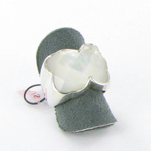 Tous Icon Ring Bear White Mother of Pearl Sterling Silver 925 Size 6 New... - $150.35