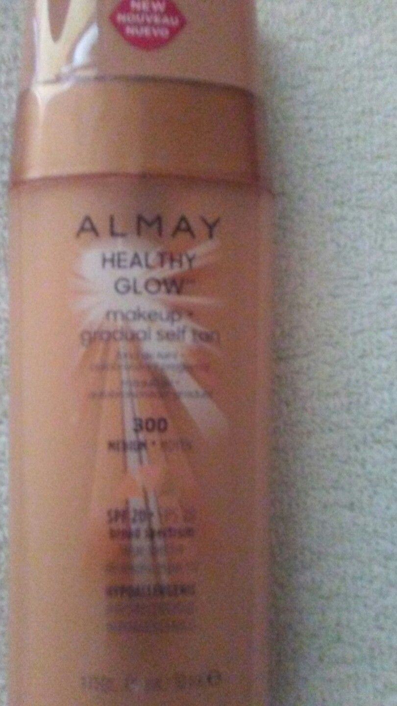 4 ALMAY HEALTHY GLOW MAKUP + GRADUAL SELF TAN SPF 20 #300 EXP: 9