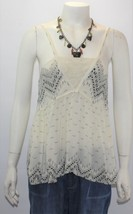Forever 21 Women's Beige/Blue Sleeveless Geometric Top Shirt - $19.80