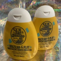 TWO Sol De Janeiro Brazilian 4Play Moisturizing Shower Cream Gel 3.0 fl. oz.