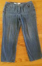 Women's Talbots Blue Denim Jeans Classic Fit Stretch Petites Size 16W - $8.42