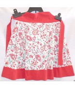 Vintage Apron, Half Hostess, Red Cotton & Paisley Print, Well made, Retro - $17.73