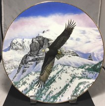 """Vintage LTD collectors 9+"""" plate American Bald Eagle soars over snowy mo... - $12.82"""