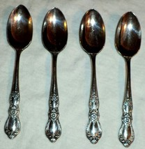 4 1847 Rogers Bro Teaspoons Heritage Silverplate 1968 International Silver - $28.49