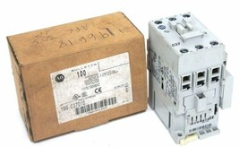 NIB ALLEN BRADLEY 100-C37D10 CONTACTOR SER. C, 110V50/120V60HZ, 3 POLES, 1 N.O.