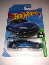 Hot Wheels [2019 N Case] Tesla Model S Blue Metallic Lot Of 3 - $19.29