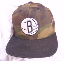 Brooklyn Nets NBA Adidas Baseball Cap Hat Camo Camouflage Basketball Emb... - $30.55