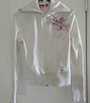 PUMA Zip Anteriore Bianco Atletico Giacca Medio Vintage - $12.40