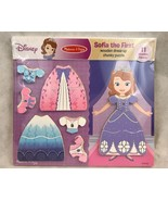 Melissa Doug Disney Sofia The First Wooden Dress Up Chunky Puzzle Gift New - $18.70