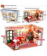 Coortical Wooden DIY Miniature House Furniture LED House Decorate Creati... - $80.20