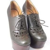 K-DS4039 New Dsquareds D2 Ladies Pump Heels Leather Green Platform Size ... - $218.49