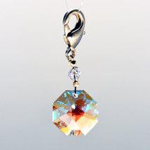 Crystal Octagon Zipper Pull image 1