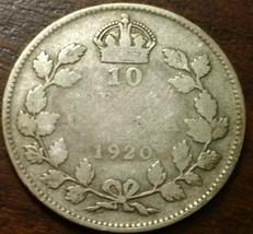 1920 Canada 10 Cent Silver Coin #769 - $6.46