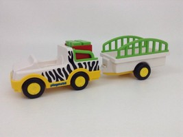 REPLACEMENT Playmobil 123 Set 6743 Zoo Animal Transporter Vehicle w/ Tra... - $18.76