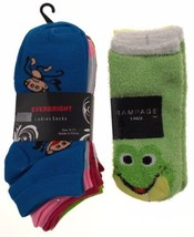 11 Pairs No Show Socks Women Rampage Everbright Size 4-10 Monkey Frog Gr... - $8.99
