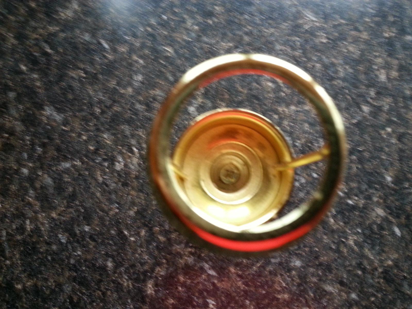 Venetian Tealight Lamp Brass Frosted Glass Handkerchief Shade Partylite P0342