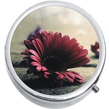 Pink Daisy Medicine Vitamin Compact Pill Box - $9.78
