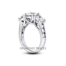 3.00 CTW I-SI1 VG Round AGI Genuine Diamonds 18k Gold Trellis Accents Ri... - $6,314.22