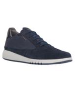 Mens Geox U Aerantis A Sneakers - Navy Suede/Smooth Leather [U927FA 0224... - $121.99