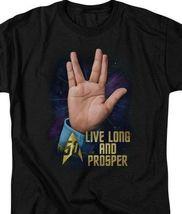 Star Trek Spocks The iconic Live Long  Prosper hand gesture graphic tee CBS1763 image 3