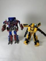 Transformers Optimus Prime & Bumblebee Action Figures READ - $15.95