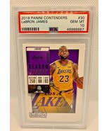 Lebron James 2018-19 Contenders #30 1st Lakers Uniform PSA 10 GEM MINT - $129.99