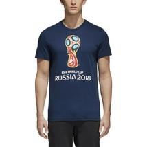 Adidas Men's Fifa 2018 World Cup Emblem Tee Navy CV6337 - $20.10
