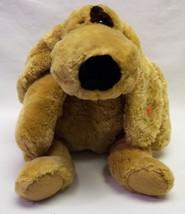 "TY Beanie Buddies SOFT TAN & BROWN FLOPPY PUPPY DOG 18"" Plush STUFFED AN... - $19.80"