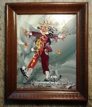 Famous Artist Morris KATZ Clown Vintage Origina... - $98.99