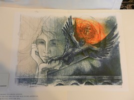 Icarus Lithograph Print by René Villiger Signed Numbered 437/600 - $148.49