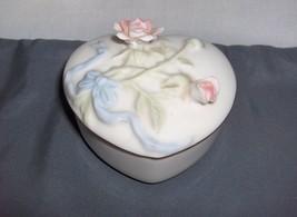 Heritage House Celebration Of Love Porcelain Heart  Music Trinket Box Love Story - $24.99