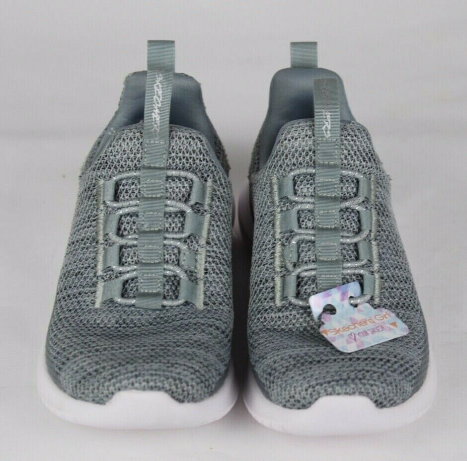 Skechers Jugend Mädchen Schuhe Sneaker Grau ohne Bügel Größe 10.5