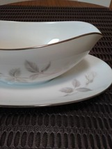 Rare Noritake China Gravy Boat with Attached Underplate Melrose 6002 Gravy Boat  image 2