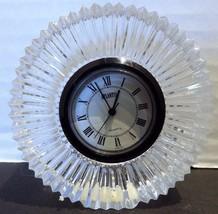 Atlantis Crisal Portugal Lead Crystal Clock Hand Blown Desk Mantle Signed - $19.79