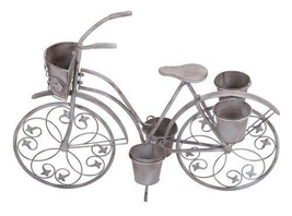 Bicycle Planter Stand Metal Flower Pot Holder Outdoor Garden Lawn Patio ... - $144.73 CAD