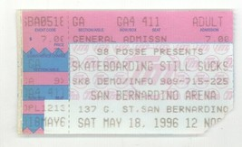 Skateboarding Still Sucks SK8 Demo San Bernardino Arena 5/18/96 Ticket S... - $2.99