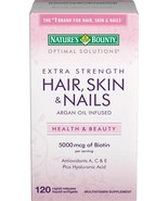 Nature's Bounty® Optimal Solutions Hair Skin & Nails Extra Strength 120 ... - $19.79