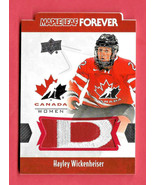 2016-17 Hayley Wickenheiser Upper Deck Canada Juniors Maple Leaf Forever... - $71.24