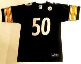 PITTSBURGH STEELERS #50 SANTONIO HOLMES BLACK HOME JERSEY MENS MEDIUM BY... - $30.00