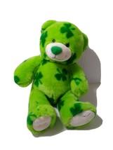 "Build A Bear 15"" Saint Patty's Shamrocks Teddy Green Plush Stuffed Anima... - $18.80"