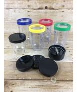 Magic Bullet Blender Party Mugs Cups W/Lip Rings Handles Replacement Pa... - $19.59
