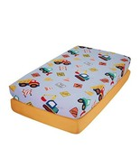EVERYDAY KIDS 2 Pack Fitted Boys Crib Sheet, 100% Soft Microfiber - $20.41