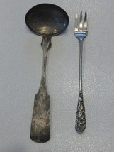 Sterling Hallmarked Small Ladle and Three Pronged Cocktail Fork 44 Grams - $49.00