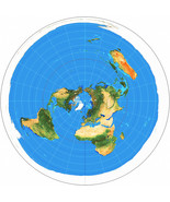 Azimuthal Equidistant Projection Flat Earth Map Zetetic Geo Centric USGS... - $19.31