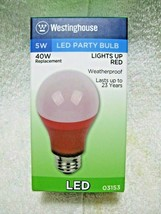 Westinghouse Led Red 40 Watt Party Bulb Uses Only 5 Watts Of Power-Medium Base!! - $14.95