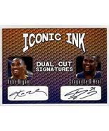 Kobe Bryant Shaquille O'Neal Iconic Ink Dual CUt Signatures Facsimile Au... - $9.85
